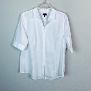 TALBOTS Women's sz 16 white button blouse